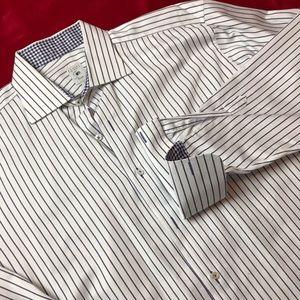 NWOT Robert Talbott flip cuff dress shirt 17